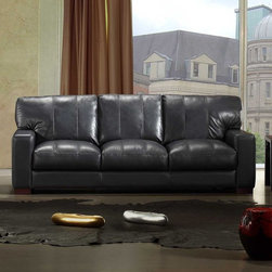 Marthena Home Furnishings - Sofa Dyson Full Length Couch - 3939SF - Upholstered in 100% pure top grain hides from Italy's finest tanneries.