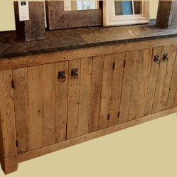 Reclaimed Antique Barn Wood 4 Door Buffet Sideboard