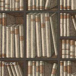 Fornasetti Ex Libris Wallpaper - If your book collection is taking awhile to come together, you can opt for this library wallpaper instead!