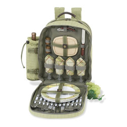 Picnic at Ascot - Hamptons Picnic Backpack for Four - Features:
