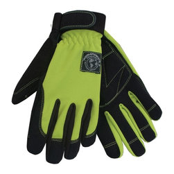 None - WWG Digger Large Green Glove - Material: Synthetic leather and spandex Size: Large Color: Green and black