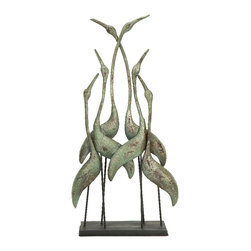 "Imax - Imax CKI Norfolk Bird Flock Statue Sculpture Decor 18.25"" x 36"" - Imax 87390 CKI Norfolk bird flock statue sculpture decor 18.25"" x 36"""
