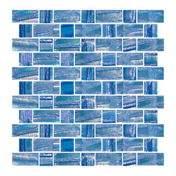 Susan Jablon Mosaics - Iridescent Deep Aqua Recycled Glass Tile - This 100% recycled glass tile has a deep aqua blue hue with an iridescent shimmer that glistens from the textural surface. The dimensional criss crossed lines at various angles and thicknesses make each of the glass tiles unique. Use them installed in full sheets or blend them in the mosaic tile designer for that one of a kind look. Eco-friendly never looked so good! Certified by the U.S. Green Building Council for L.E.E.D. Projects, the beauty of these recycled glass tiles prove you don't need to sacrifice to be sustainable. They are suitable for a wide range of uses, indoors and outdoors, in dry or wet locations. A custom mosaic design using these tiles can make a gorgeous, responsible, design statement in your pool, kitchen bathroom, dining room – anywhere! It is very easy to install as it comes by the square foot on mesh and it is very easy to clean! About a decade ago, Susan Jablon re-ignited her life-long passion for mosaics and has built a customer-focused, artist-driven, business offering you the very best in glass and decorative tiles and mosaics. We are a glass tile store committed to excellence both personally and professionally. With lines of 100% SCS Qualified recycled tile, 12 colors and 6 shapes of mirror, semi precious turquoise stones from Arizona mines, to color changing dichroic glass. Stainless steel tiles in 8mm and 4mm and 12 designs within each, and anything you can dream of. Please note that the images shown are actual photographs of the tiles however, colors may vary due to the calibration of each individual monitor. Ordering samples of the tiles to verify color is strongly recommended.