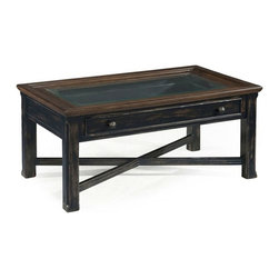 Magnussen - Magnussen Clanton Wood Large Rectangular Coffee Table in Antique Black - Magnussen - Coffee Tables - T236550 - About This Product:
