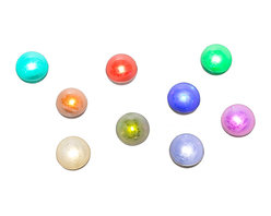 """LED Pixie Berries (12 Pack) - No matter what your application you will fall in love with these Pixie Berries. These 3/4"""" berries have an LED light that fades in and out and when combined with other Pixie Berries it creates the effect of several fireflies or pixies dancing about. Turn your yard or event into an enchanted wonderland by spreading these berries about the yard, hang them from the trees or bushes, or use them to bring life to your floral arrangements or centerpieces. These berries are also water resistant so that you can use them in floating centerpieces or toss them into a pool or pond to create the effect of pixies dancing on the water. There is a small recessed hole that you can string fishing line through for hanging the berries. No matter what your application you are sure to fall in love with this whimsical product. Ideas for use: Wedding Venues Floral Arrangements Centerpieces Christmas Decor Garden Parties Trees, Landscapes, and more!"""