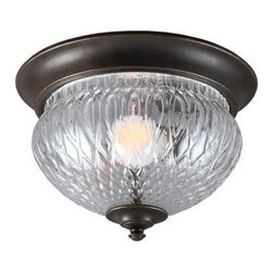 Sea Gull Lighting - Sea Gull Lighting 7826401BLE Garfield Park 1 Light Outdoor Flush Mount Fluoresce - Features: