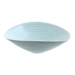 Portmeirion - Sophie Conran Celadon Salad Bowl - 422407 - Shop for Bowls and Candy Dishes from Hayneedle.com! Serve salad up right in the Sophie Conran Celadon Salad Bowl. Crafted of sturdy porcelain this versatile bowl is safe for the freezer oven microwave and dishwasher making it so much more than a simple salad bowl. It's stylish yet practical and will last you years to come.About PortmeirionStrikingly beautiful eminently practical refreshingly affordable. These are the enduring values bequeathed to Portmeirion by its legendary co-founder and designer Susan Williams-Ellis. Her father architect Sir Clough Williams-Ellis was the designer of Portmeirion the North Wales village whose fanciful architecture has drawn tourists and artists from around the world (including the creators of the classic 1960s TV show The Prisoner). Inspired by her fine arts training and creation of ceramic gifts for the village's gift shop Susan Williams-Ellis (along with her husband Euan Cooper-Willis) founded Portmeirion Pottery in 1960. After 50+ years of innovation the Portmeirion Group is not only an icon of British design but also a testament to the extraordinarily creative life of Susan Williams-Ellis.The style of Portmeirion dinnerware and serveware is marked by a passion for both pottery manufacturing and trend-setting design. Beautiful tactile nature-inspired patterns are a defining quality of Portmeirion housewares from its world-renowned botanical designs modeled on antiquarian books to the breezy natural colors of its porcelain and earthenware. Today the Portmeirion Group's design legacy continues to evolve through iconic brands such as Spode the Pomona Classics collection and the award-winning collaboration of Sophie Conran for Portmeirion. Sophie Conran for Portmeirion:Successful collaborations have provided design inspiration throughout Sophie Conran's life. Her father designer Sir Terence Conran and mother food writer Caroline Conran have been the pillars of her eclectic mix of cooking writing and interior design. In pairing with the iconic British housewares brand Portmeirion Conran has created another successful collaboration: Sophie Conran for Portmeirion an award-winning collection of dinnerware serveware and drinkware for the practical multi-functional needs of contemporary kitchens.Launched in 2006 Sophie Conran for Portmeirion immediately received the Elle Deco Style Award for Best in Kitchens and two years later the House Beautiful Award for Best in Tableware. The soulful tactile beauty of these oven-to-tableware pieces is exemplified by rippled surfaces and edges that evoke a potter's hand. This down-to-earth style is complemented by charming pastels gentle earth tones and classic whites and pinks for a collection that will lighten and enliven contemporary kitchen decors. Though delicate to the eye and touch these plates and bowls are built for durable performance with microwave- and dishwasher-safe porcelain that's casual enough for breakfast and elegant enough for eye-catching dinners.