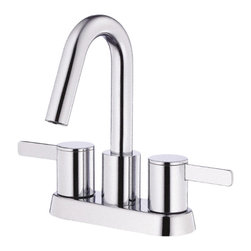 "Danze - Danze D301030 Chrome Lavatory Faucet Two Lever Handle - Danze D301030 Chrome Two Handle Centerset Lavatory Faucet is part of the Amalfi Bath collection.  D301030 3 hole mount lav faucet has a 3 3/4"" long spout, with touch down drain.  D301030 Two lever handles meets all requirements of ADA.  California and Vermont compliant."
