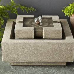 Campania - Escala Cast Stone Tabletop Fountain -