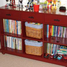 Eclectic Bookcases by Paravan Wood Design