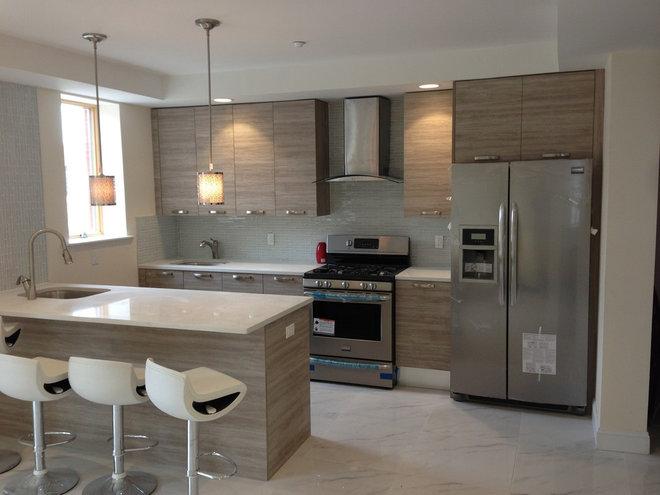 Contemporary Kitchen Cabinets by Artisitc Kitchen Designs