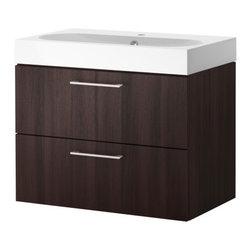 IKEA of Sweden/Eva Lilja Löwenhielm - GODMORGON/BRÅVIKEN Sink cabinet with 2 drawers - Sink cabinet with 2 drawers, black-brown