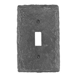 Faux Slate Gray 1 Toggle Wall Plate - I love this faux slate switch plate in gray. The look of slate adds a little hint of nature to your room.