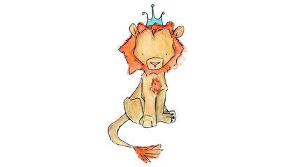 Children's Art Royal Lion Art Print by trafalgarssquare on Etsy
