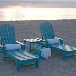 Fifthroom - POLYWOOD Shell Back Chaise Lounge - If you enjoy hearing the ocean in a seashell, you'll love getting the feeling that you're actually there, when you sink into our Shellback Chaise Lounge.  Designed to give you the ultimate in comfort, it features a straight back, wide armrests, and four reclining positions.  Crafted from maintenance-free Polywood, with wide, contoured slats, it also offers the utmost in contemporary style.  In any of its many available colors, this lounge chair is absolutely stunning.