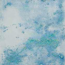 """Sea Spray"" (Original) By Lisa Bolin - Created With Various Textural Mediums And Painted With Rich And Evocative Shades Of Turquoise And Green On An Ethereal White Background, Sea Spray Comes To You Ready To Hang. Its 2"" Wide Edges Are Painted, Too, So Framing Is Not Necessary. If You Have Need For A Piece In A Particular Size Or Colour Palette, Lisa Bolin Cheerfully Welcomes Custom Commissions. Thank You For Looking!"