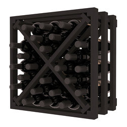 Wine Racks America - Lattice Stacking X Wine Cube in Ponderosa Pine, Black - Designed to stack one on top of the other for space-saving wine storage our stacking cubes are ideal for an expanding collection. Use as a stand alone rack in your kitchen or living space or pair with the 16-Bottle Cubicle Wine Rack and/or the Stemware Rack Cube for flexible storage.