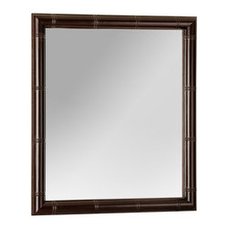 """Foremost - Bayfield Bathroom Mirror - The bayfield mirror reflects eras of sophistication, its eclectic blend of styles will work well in any home. Able to be hung 2 ways, it can be used in a variety of settings. Complimenting the Bayfield vanity, your bathroom will transform into an oasis (vanity is sold separately). Features: -Bayfield collection. -Construction: Solid wood, wood veneers and low emission engineered wood. -Bamboo frame compliments the Bayfield vanity. -Pre-attached mounting hooks. -Hangs vertical or horizontal. -Manufacturer provides 1 year warranty. Dimensions: -32"""" H x 28"""" W x 1.7"""" D, 21 lbs."""