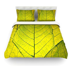 """Kess InHouse - Robin Dickinson """"Every Leaf a Flower"""" Cotton Duvet Cover (Twin, 68"""" x 88"""") - Rest in comfort among this artistically inclined cotton blend duvet cover. This duvet cover is as light as a feather! You will be sure to be the envy of all of your guests with this aesthetically pleasing duvet. We highly recommend washing this as many times as you like as this material will not fade or lose comfort. Cotton blended, this duvet cover is not only beautiful and artistic but can be used year round with a duvet insert! Add our cotton shams to make your bed complete and looking stylish and artistic! Pillowcases not included."""