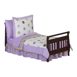 Purple Mod Dots Toddler Bedding Set