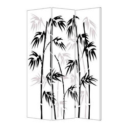 Screen Gems - Banaboo Leaf Screen - 3 panel printed on canvas screen. Finished on both sides with two different and complementary images. Lightweight and very easy to move around. Can also be used as great wall decor. 48 in. L x 72 in. H (14 lbs.)
