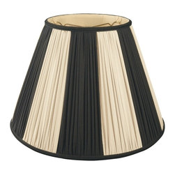 Royal Designs, Inc. - Beige & Black Pleated Round Designer Lampshade - This Beige & Black Pleated Round Designer Lampshade is a part of Royal Designs, Inc. Timeless Designer Shade Collection and is perfect for anyone who is looking for an elegant yet detailed lampshade. Royal Designs has been in the lampshade business since 1993 with their multiple shade lines that exemplify handcrafted quality and value.