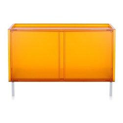 "Kartell - Kartell | ""One"" Modular Storage with Doors - Design by Piero Lissoni."