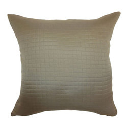 The Pillow Collection - Maertisa Quilted Pillow Espresso - Decorate your space with a luxurious quilted throw pillow. This stylish accent pillow is an ideal statement piece that you can prop up on your furnishings. The decor pillow is versatile and practical, which suits many decor styles and settings. The Espresso-colored square pillow is made from 100% polyester fabric. Combine this with patterns like ikats, toiles, geometric and more. Hidden zipper closure for easy cover removal.  Knife edge finish on all four sides.  Reversible pillow with the same fabric on the back side.  Spot cleaning suggested.