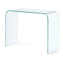 Modern glass console Mecca - Modern console Mecca is gracefully formed from a solid piece of semi-tempered glass. The beauty of the Mecca console table is proved by its simple air floating from.