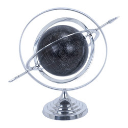 ecWorld - Armillary Sphere World Globe Table and Studio Decor - Silver - The classic beauty of this Armillary Sphere is ideal to add a touch of class to any room decor. The celestial instrument combines the concept of time, history, and the changing universe into one element. It is composed of rings that represent the principal circles of the celestial sphere. Makes a delightful accent in your home or office.