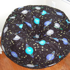 "Bean Bags for Boys - Ahh! Products Outer Space anti-pill fleece bean bag chair. Remove and wash cover, water-repel liner. 37"" large size. 10 year warranty, Made in USA."