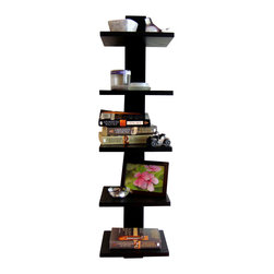 """Proman Products - Proman Products Spine Wall Book Shelves in Black - Spine wall book shelves black stylish and functional. The individual shelves actual size: 9. 25""""W x 7. 75"""" d. Provides storage and display space for all your favorite books, DVD's and decorations"""