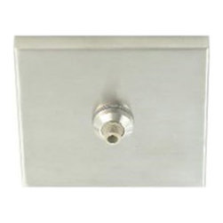 Tech Lighting - Freejack LED 4 Inch Square Flush Canopy - Freejack 4 inch Square Flush Canopy LED with one Freejack port for use with any 12 volt LED Freejack element to create a decorative ceiling or wall mount fixture. Available in Satin Nickel, Chrome, White, Black or Antique Bronze finish. Canopy mounts to a standard 4 inch junction box with round plaster ring (provided by electrician).  For ceiling or wall.  If mounting to wall, head should be no longer than 6 inches.  Dimmable with electronic low voltage dimmer.  4 inches square x .5 inches high.  ETL listed.