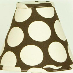 """Cotton Tale Designs - Raspberry Dot Lamp Shade - A quality baby bedding set is essential in making your nursery warm and inviting. All Cotton Tale patterns are made using the finest quality materials and are uniquely designed to create an elegant and sophisticated nursery. The Raspberry Dot lamp shade is 100% cotton duck, with big dot pattern. Shade measures 8 x 9 x 4. This lampshade is Made in the USA.; Weight: 1 lb; Dimensions: 4""""L x 9""""W x 8""""H"""