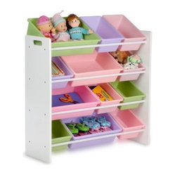 Honey Can Do Kids Storage Organizer - 12 Bins - White