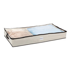None - Under-bed Storage Bag - Combat clutter by adding this storage cube to your organizational arsenal. With its sturdy handle and collapsible feature, this item is sure to remain a feature behind the scenes in any home.