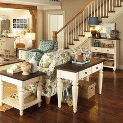 Living Room   Smart Furniture - Display and organize all your favorite decor pieces on this coastal chic bookcase.