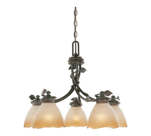 "Designers Fountain - Designers Fountain 95686 Timberline 18.5"" Height 5 Light Chandelier - Features:"