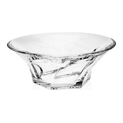 Godinger Silver - Apollo Large Bowl - Elegant glass bowl. Perfect with any decor.