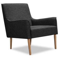 Modern Accent Chairs Brent Dark grey Arm Chair