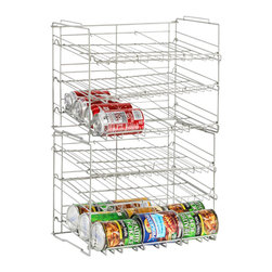 Atlantic Inc - Atlantic Inc Double High Canrack In Silver - Atlantic Inc - Kitchen Accessories  - 23235595 - Atlantic Inc. brings you innovative storage solutions for your home. Keep your pantry clutter free with this durable Canrack.Features: