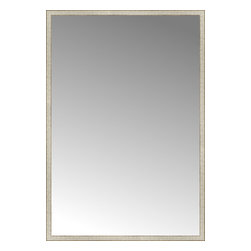 """Posters 2 Prints, LLC - 57"""" x 83"""" Libretto Antique Silver Custom Framed Mirror - 57"""" x 83"""" Custom Framed Mirror made by Posters 2 Prints. Standard glass with unrivaled selection of crafted mirror frames.  Protected with category II safety backing to keep glass fragments together should the mirror be accidentally broken.  Safe arrival guaranteed.  Made in the United States of America"""