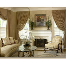 Traditional Window Treatments by Tidewater Interiors