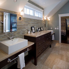 Transitional Bathroom by H&H Design