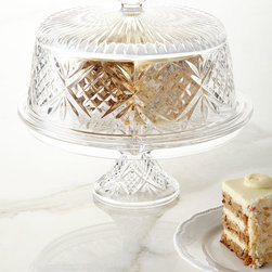 "GODINGER SILVER ART CO - Dublin 4-in-1 Cake Dome - CLEAR - GODINGER SILVER ART CODublin 4-in-1 Cake DomeDetailsServes as a cake dome chip & dip server footed punch bowl or salad bowl.Made of lead crystal.Hand wash.Approximately 12""Dia. x 10.5""T.Imported."