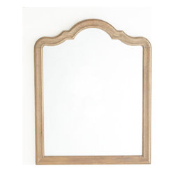 Queen Anne Mirror - The wooden frame and silhouette of the Queen Anne mirror evokes the shape of those found at the Longman & Eagle in Chicago.