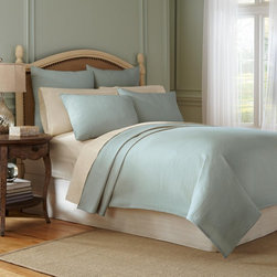 None - Modern Living Signature Matelasse Cotton Coverlet with Shams Sold Separately - The signature Matelasse coverlet in 100-percent cotton is the perfect warm weather topper for your bed. The woven coverlet has a soft finish and is offered in abyss blue,ecru,java and soft gold to complement any style.