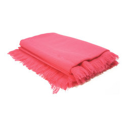 """Pur by Pur Cashmere - Signature Blend Throw Pink Flambe 50""""x70"""" - Tissu tissu throw75% wool 25% nylon Dry clean only. Inner mongolia."""