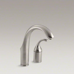 KOHLER - KOHLER Fort�(R) two-hole bar sink faucet with lever handle - At home in classic or contemporary settings, this Fort� bar sink faucet enhances any entertainment or prep area with style. The remote ergonomic lever handle offers a distinctive design statement and makes operation easy. The high-arch swing spout rotates