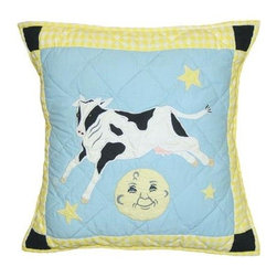 Patch Magic - Hey Diddle Diddle Toss Pillow - 16 in. W x 16 in. L. 100% Cotton. Machine washable.. Line or flat dry onlyDecorative applique Quilted Pillow.